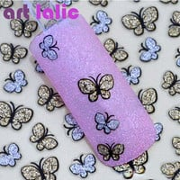 3D Butterfly Nail Art Shinning Stickers DIY Nail Sticker Nail Art Accessories