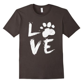 Love Paw for Animal Lovers Vintage T-Shirt