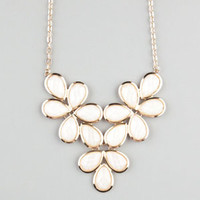 FULL TILT Facet Teardrop Flower Statement Necklace