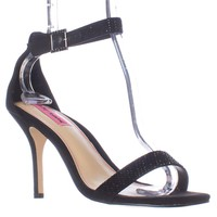 Betsey Johnson Brodway Ankle Strap Dress Sandals, Black, 11 US