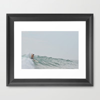 morning surf Framed Art Print by RichCaspian