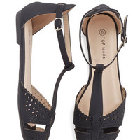 ModCloth Sunset In Your Ways Flat in Black