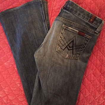 Distressed Flare Boot Cut Jeans (7 For All Mankind)