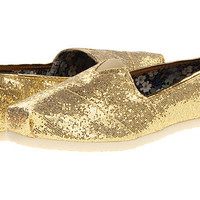 Roper Glitter Canvas Slip On Gold Metallic - Zappos.com Free Shipping BOTH Ways