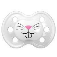 Funny rabbit nose baby pacifier