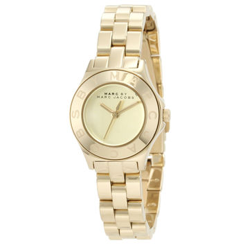 Marc by Marc Jacobs MBM3131 Women's Blade Mini Gold Tone Dial Gold Tone Stainless Steel Bracelet Watch