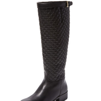 Renvy Women's Reign Quilted Leather Boot - Black -