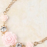 Rose Bracelet with Rhinestones