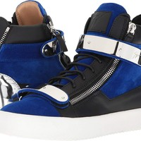 Giuseppe Zanotti Mens May London Flocked Hardware High Top Sneaker