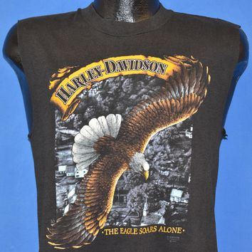 80s Harley Davidson The Eagle Soars Alone t-shirt Medium