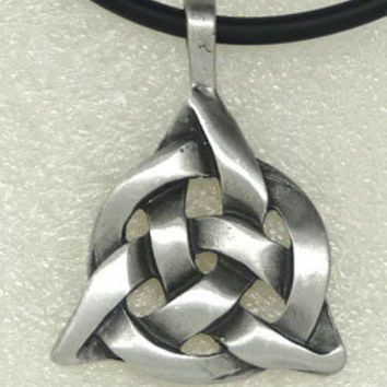 Celtic Triquetra Trinity Knot Norse Viking Scandinavian Charmed Pewter Pendant