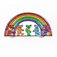 Grateful Dead Rainbow Bears Pin