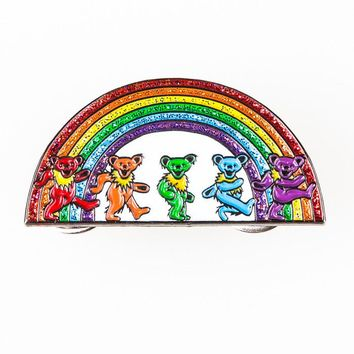 Grateful Dead Rainbow Bears Pins