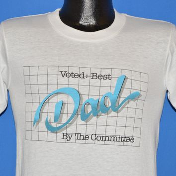 80s Voted Best Dad By The Committee t-shirt Small