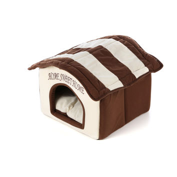 Home Sweet Home Dog Dome Dog Bed - Machine Washable
