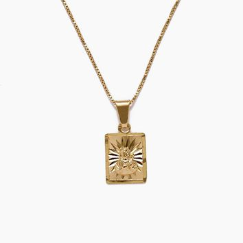 The Son Of God Gold Starburst Necklace - Gold