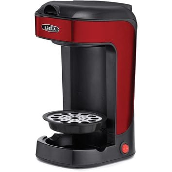 BELLA Single Scoop Coffee Maker Red 1 - Does not contain composite wood 8.5 x 10.3 x 5.1""