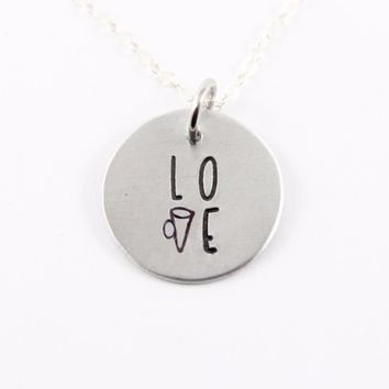 Cheer Love Necklace - Sterling Silver