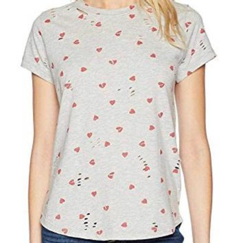 DCCKAB3 Lucky Brand All Over Hearts Tee Heather Grey