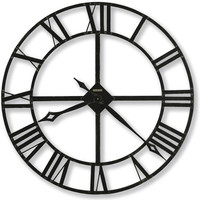0-003228>Lacy II Wall Clock Wrought Iron