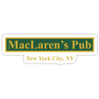 'MacLaren's Pub, New York – How I Met Your Mother' Sticker by fandemonium