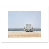 8x10 Matted Print - Blue Venice Beach Wall Art, California Coastal Wall Decor Picture, 'Blue Lifeguard Tower'