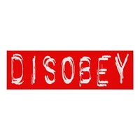 DISOBEY Political Statement Poster Art
