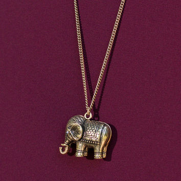 Herd You Were A Wild One Necklace, Bronze
