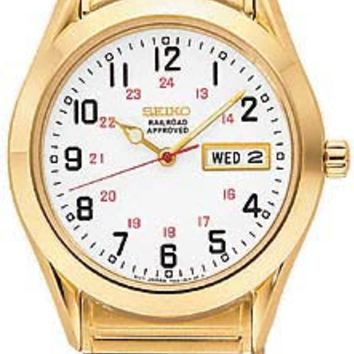 Seiko SGG746 Men's Gold Tone Stainless Steel Adjustable Flex Band Watch