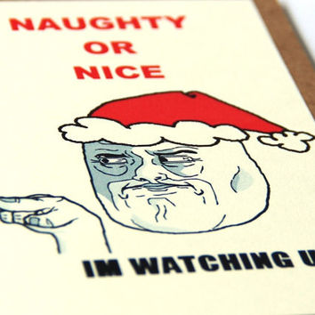 MEME Christmas Holiday Cards - Funny Christmas Card Set of 4 -  Mix N Match Promo Pack - Free Shipping