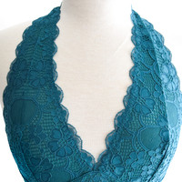 Cross My Heart Bralette Teal