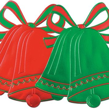 Foil Christmas Bell Silhouettes - CASE OF 24