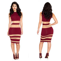 Women Bandage dress New Vintage dress Casual Daily dress Fashion Sexy Evening club Party dress