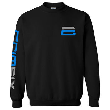Crimsix SIX Crewneck - NBluGry on Blk