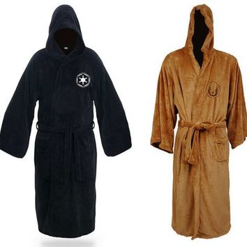Star Wars Darth Vader Jedi Knight Robe Cosplay Costume Terry Bathrobe Daily Casual Pajamas
