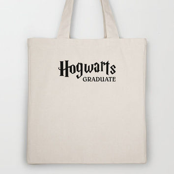 Harry Potter - Hogwarts Graduate Tote Bag by Yiannis Telemachou