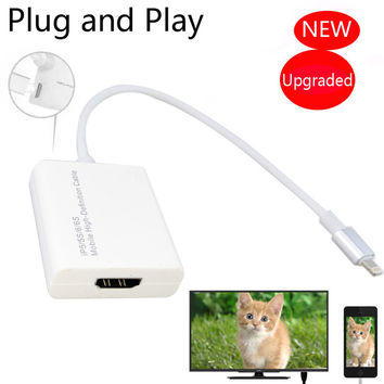 NEW For Lightning to HDMI TV HDTV AV Adapter for iPad to TV For iPhone 7 6 6S Plus 5 5S to HDMI TV HDTV Charger Video Cable