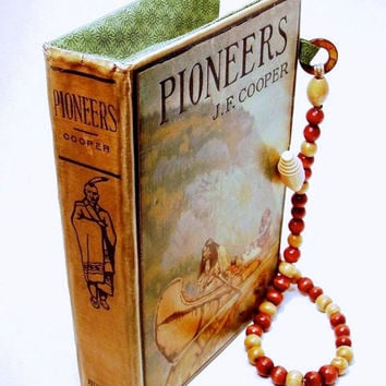 Book Purse made from Vintage Naturalist Book with Native Americans on Cover