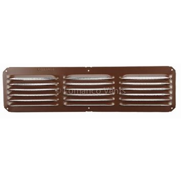 "Lomanco® C416BR C-Series Under Eave Cornice Vent, 4"" x 16"", Brown"