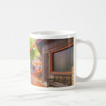 Little Tokyo Japanese village Painting Coffee Mug