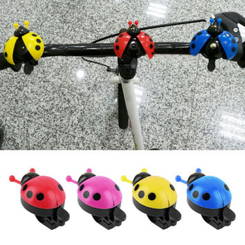 Lovely Kid Beetle Ladybug Ring bicycle Bell For Cycling Bicycle Bike Ride Horn Alarm bike trumpet horn