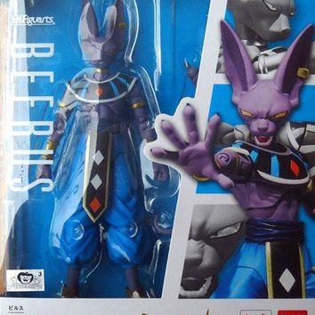 Bandai Dragon Ball Z SHF S.H.Figuarts Dragonball Super Beerus Action Figure PVC Japan Anime Collectible Mascot Toys