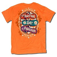 Sweet Thing Another Day In Paradise Flip Flop Orange T-Shirt