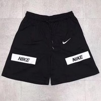 NIKE Fashion Men Casual Reflective Print Sports Running Shorts