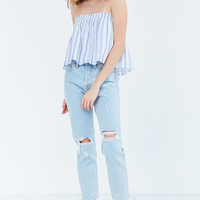 Kimchi Blue Billie Smocked Strapless Top | Urban Outfitters