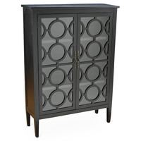 Cabinet Regina  with Glass Doors, Ebony, Cabinets & Hutches