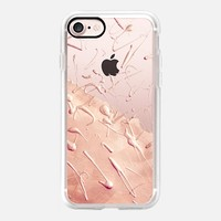 Pastel Rose Gold Rain (transparent) iPhone 7 Case by Lisa Argyropoulos | Casetify