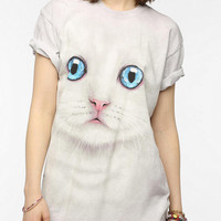 The Mountain Kitten Face Oversized Tee