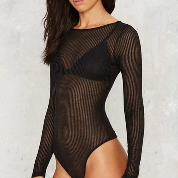 Robbie Ribbed Bodysuit - Black