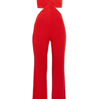 Balmain - Cutout stretch-jersey jumpsuit